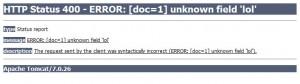 Error visto en el navegador